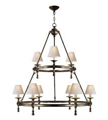 Bronze Chandelier With Shades Visual Comfort Sl 5813bz Np E F Chapman Traditional Classic Two
