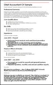 Example Of Accountant Resume by Chief Accountant Cv Sample Myperfectcv