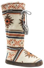zulily s boots muk luks grace tie s knit sweater boots slippers faux