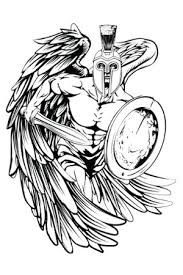 warrior guardian angel tattoo design