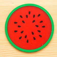 modern fruit holder 2017 modern fashion fruit coaster colorful silicone cup drinks