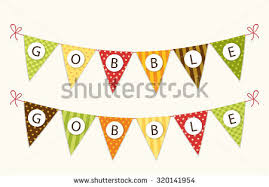 thanksgiving bunting flags letters traditional stock