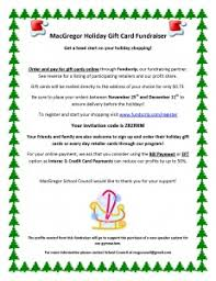 gift card fundraiser gift card fundraiser from school council macgregor school