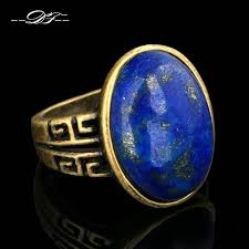 antique rose rings images Semi precious stone lapis lazuli finger rings antique rose gold jpg
