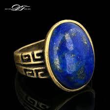 antique rose rings images Semi precious stone lapis lazuli finger rings antique rose gold jpg