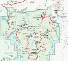 Road Map Utah by Mountain Biking The White Rim Trail In Canyonlands National Park