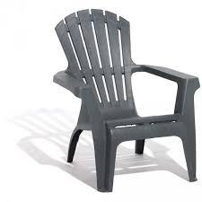 chaise de jardin fauteuil de jardin plastique gris anthracite mobilier de jardin