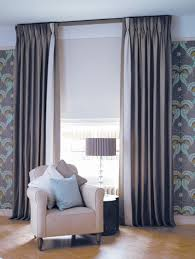 interlined triple pinch pleat linen chintz curtains on lath
