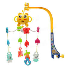 baby plaything song baby crib bed bell mobile kid toy electric