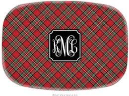 personalized melamine platters boatman geller personalized melamine platters in plaid