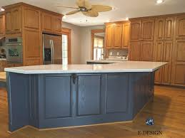 blue kitchen island with oak cabinets 93 kitchens wood cabinets islands ideas in 2021 kitchen