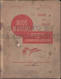 1946 1948 chevrolet car repair shop manual original canadian