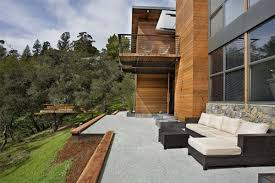 outdoor living room pergola tempered glass table white floor