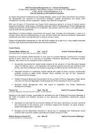 Logistics Management Specialist Resume Resume Procurement Manager Virtren Com
