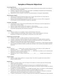 Samples Of Resumes With Objectives by Samples Of Resume Objectives
