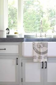 classy white grey colors two tone kitchen cabinets features black