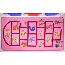 fun interactive girls pink hopscotch kids rug kukoon