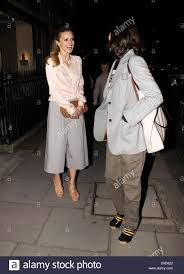laura bailey and bella freud leaving the diane von furstenberg and