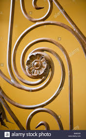 Iron Banister Detail Of Wrought Iron Banister Stock Photo Royalty Free Image