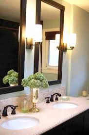 bathroom mirror frame ideas bathroom mirrors wood frame ideas image standing inside design