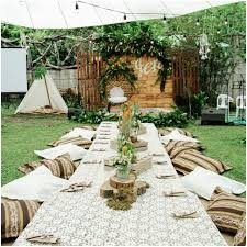 Backyard Themes Backyards Stupendous Rustic Bohemian Theme For My 18th Birthday