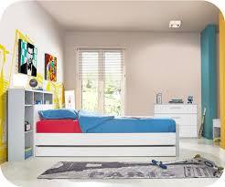 chambre timeo chambre enfant timéo blanche et grise set de 4 meubles