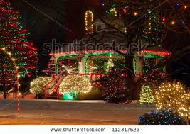 Christmas Town Decorations Outdoor Christmas Decorations At Christmas Town Usa Stock Images