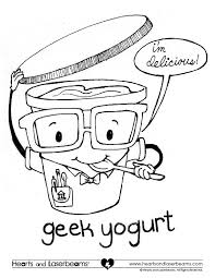 coloring pages yogurt coloring page healthy food pages yogurt
