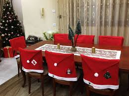 Santa Chair Covers Personalized Christmas Santa Hat Chair Covers Name Pach