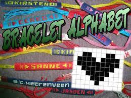 pattern art name friendship name bracelet crochet yarn how to make a heart youtube