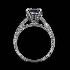 black cubic zirconia engagement rings cathedral asscher cubic zirconia engraved engagement