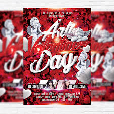 valentines flyer template anti s day premium flyer template cover