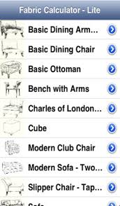 How To Calculate Yardage For Upholstery Fabriccalc Lite On The App Store