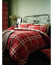 tartan duvet covers tartan stag natural quilt cover sets plaid