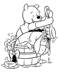 winnie pooh eeyore piglet tigger printable coloring pages