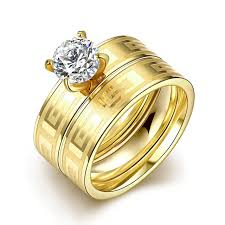 wedding ring dubai dubai gold color rings for women gift fashion zircon