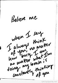 believe me quote