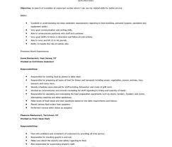 Resume Template Restaurant Download Restaurant Resume Templates Haadyaooverbayresort Com