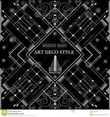 art deco geometric pattern modern silver background stock vector