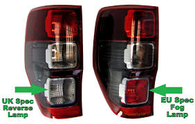ford ranger wildtrak spec ford uk red black rear tail back light ford ranger wildtrak lamp l s 2012