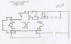 Frank Lloyd Wright Floor Plan Robie House Study On Behance