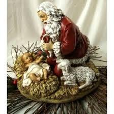 santa and baby jesus picture kneeling santa w baby jesus figure betterimprovement