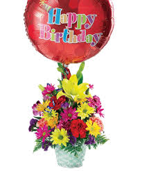 birthday flower delivery birthday basket birthday ideas woyshners flower shop
