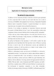 Academic Advising Cover Letter Motivational Letter To University Application
