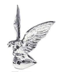 chrome american eagle ornament semi truck