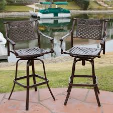 Outdoor Swivel Bar Stool Pretty Outdoor Swivel Bar Stools With Back And Arms Dining Chairs