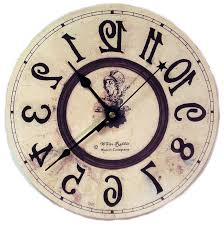 Alice And Wonderland Home Decor by Backwards Alice Clock Http Thewhiterabbit Net Product Info Php