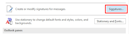 create your email signature in outlook 2016 oxen technology