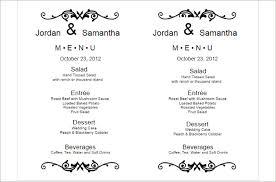 Wedding Menu Template Menu Templates Free Pdf Word Documents Download Creative Template