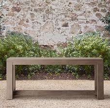 Outdoor Console Table French Beam Weathered Teak Console Table Kata Outdoor